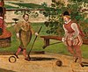 Gentlemen playing troco, 1700s