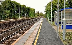 Trooperslane railway station - Trooperslane halt in 2011
