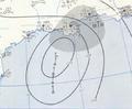 Tropical Storm Esther analysis 18 Sep 1957.png