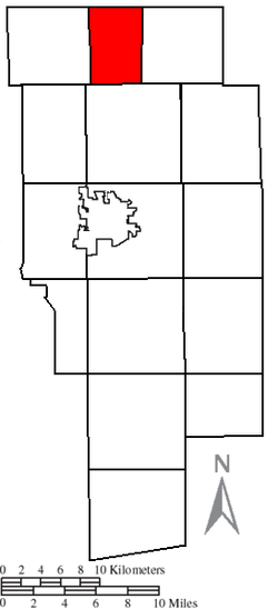 Location of Troy Township in Ashland County
