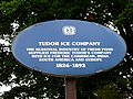 Tudor Ice Company - Historical Marker, Cambridge, Mass.JPG