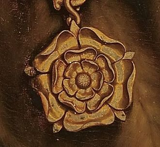 Tudor rose - Image: Tudor Rose from Holbein's Portrait of More