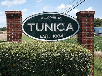 Tunica, Mississippi - Image: Tunica MS Town Sign