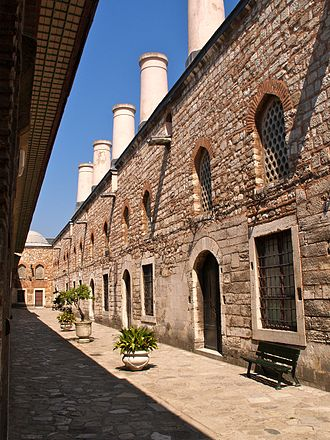 Topkapı Palace - The palace kitchens with the tall chimneys