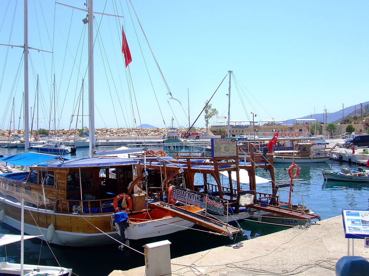 The harbour at Kalkan
