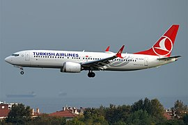 Turkish Airlines, TC-LCA, Boeing 737-8 MAX (44575165144).jpg