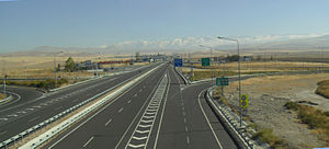 State road D.750 (Turkey) - Turkish state road D 750 at Konya junction. Toros Mountains in the background