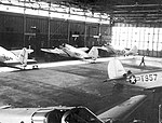 Turner Army Airfield - Beech AT-10 Wichitas in Maintenence Hangar.jpg