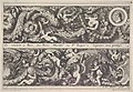 Two Designs for Friezes, of which one with a Round Portrait Medaillon, from- Frises, feuillages ou tritons marins antiques et modernes MET DP834199.jpg
