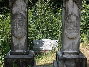 Logan County, West Virginia - Image: Two Hatfield Headstones