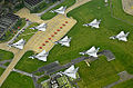 Typhoon aircraft from RAF Coningsby, practice for the Royal Jubilee celebrations by performing a diamond-nine formation over Lincolnshire.jpg