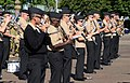 U.S. Navy musicians with the U.S. Naval Forces Europe Band rehearse a song from the mass military band ensemble for the Royal Edinburgh Military Tattoo in Edinburgh, Scotland, July 31, 2012 120731-N-VT117-954.jpg