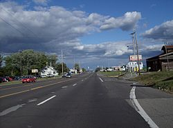 Suburban development on U.S. Route 224