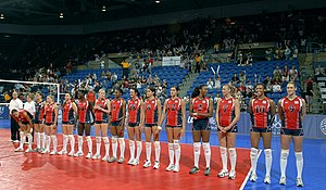 United States women's national volleyball team - Image: U.S. Women's National Volleyball Team, 2008