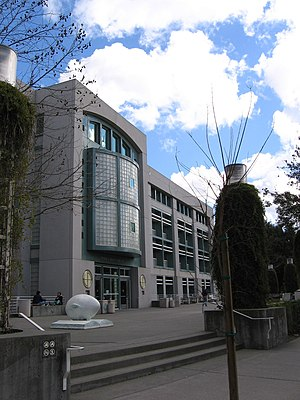 Shields Library - The exterior of the Peter J. Shields Library