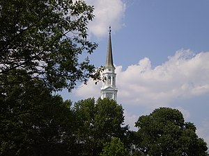 Memorial Chapel (University of Maryland) - The iconic steeple of the Chapel can be seen from all over campus and College Park.