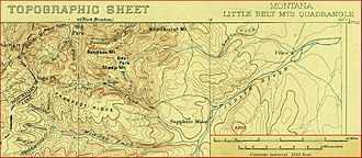 Yogo sapphire - Location of the Yogo mine area from a 1902 USGS topographic map