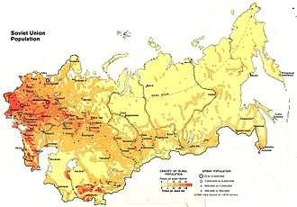 Demographics of the Soviet Union - Image: USSR population density map 1982