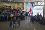 USS Arizona survivor visits USS America 141023-N-LQ799-018.jpg
