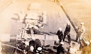 """Santo Domingo Affair - """"After the first shot has been fired. USS Columbia"""""""