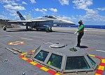 USS George Washington conducts flight operations. (27713698332).jpg