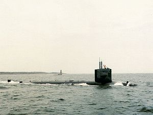 USS L. Mendel Rivers (SSN-686) underway