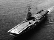 USS Lake Champlain (CVS-39) underway in February 1965 (USN 1114106)