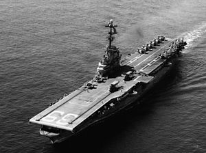 USS Lake Champlain (CVS-39) underway in February 1965 (USN 1114106).jpg