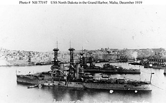 USS North Dakota (BB-29) - North Dakota in Malta in 1919