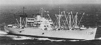 USS Wrangell (AE-12) - USS Wrangall in the South China Sea, 1966.
