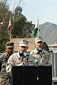US Navy 060213-N-7024W-003 Commander of Disaster Assistance Center Pakistan, Rear Adm. Michael LeFever, speaks at a ceremony.jpg