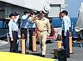 US Navy 070227-N-8154G-037 Cmdr. Jeffrey Ward walks through sideboys before assuming command of USS Ashland (LSD 48) from Cmdr. David Owen.jpg