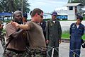 US Navy 070511-N-4124C-018 Master-at-Arms 1st Class James L. Cherry, from Mobile Security Squadron (MSS) 7, Detachment (Det) 71, conducts force protection training for members of the Royal Thai Navy.jpg