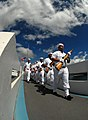 US Navy 080923-N-4965F-128 Navy Region Hawaii Ceremonial Guard marches from the pier of USS Utah Memorial.jpg