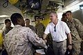 US Navy 090803-N-5549O-231 Secretary of the Navy (SECNAV) the Honorable Ray Mabus greets Sailors and Marines while touring the dock landing ship USS Fort McHenry (LSD 43).jpg