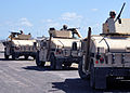 US Navy 110412-N-7764M-060 Marines assigned to FAST practice convoy tactics with Humvees at McCalla Field at Naval Station Guantanamo Bay, Cuba.jpg