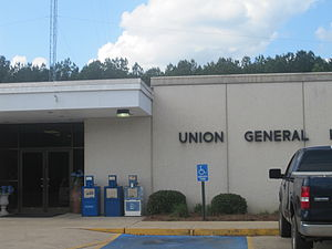 Union Parish, Louisiana - Union General Hospital in Farmerville.