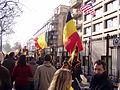 United Belgium Brussels demonstration 20071118 DMisson 00004 boulevard du Regent near American embassy.jpg