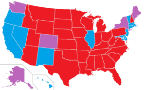 Image result for image of partisan control of us states 2017