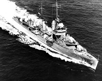 The USS Downes while underway during the later 1930s