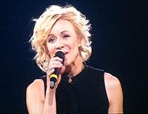 Véronic Dicaire imitating Madonna @ Celine Dion Concert.jpg
