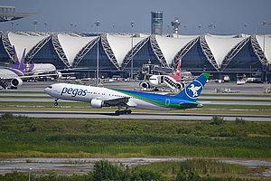 Pegas Fly - Pegas Fly Boeing 767-300ER departing from Bangkok Suvarnabhumi Airport