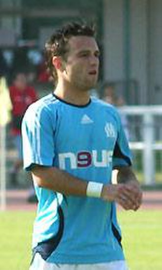 Mathieu Valbuena - Valbuena at a training session in 2007