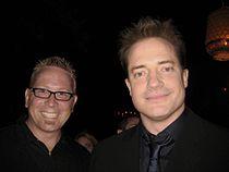 Van Vandegrift and Brendan Fraser 20080727 1.jpg