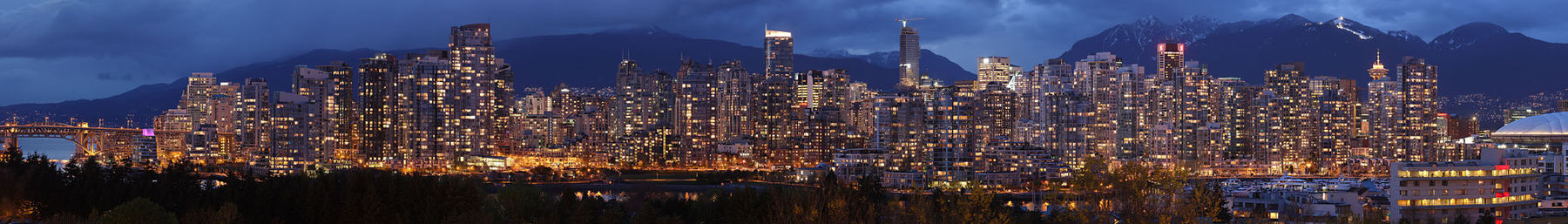 Vancouver banner Downtown at dusk.jpg