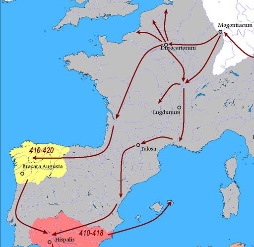 Vandals Migration 406-418