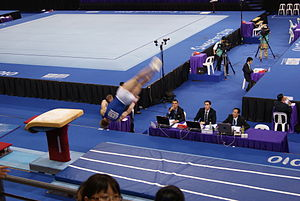 Vault (gymnastics) - Modern vaulting table