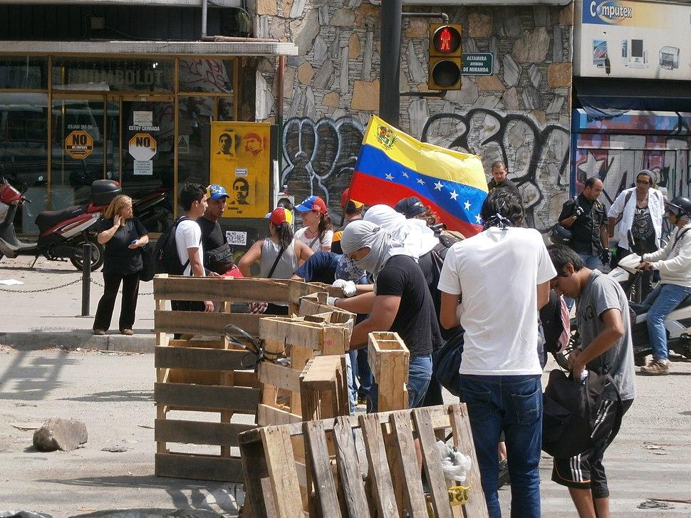 Venezuela protests against the Nicolas Maduro government, Altamira Square 6