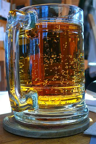 Ginger ale - A glass of Vernors ginger ale