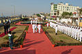 Vice Admiral Satish Soni, FOC-in-C (East), paying tribute to martyrs at War Memorial, Vizag on Navy Day 2014.jpg